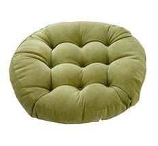 21-Inch Round Floor Pillow Tufted Support Padded Boosted Cushion, Green - $38.07