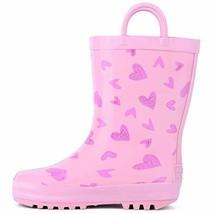 landchief Children's Rubber Printed Rain Boots Waterproof Rain Boots for... - $21.86