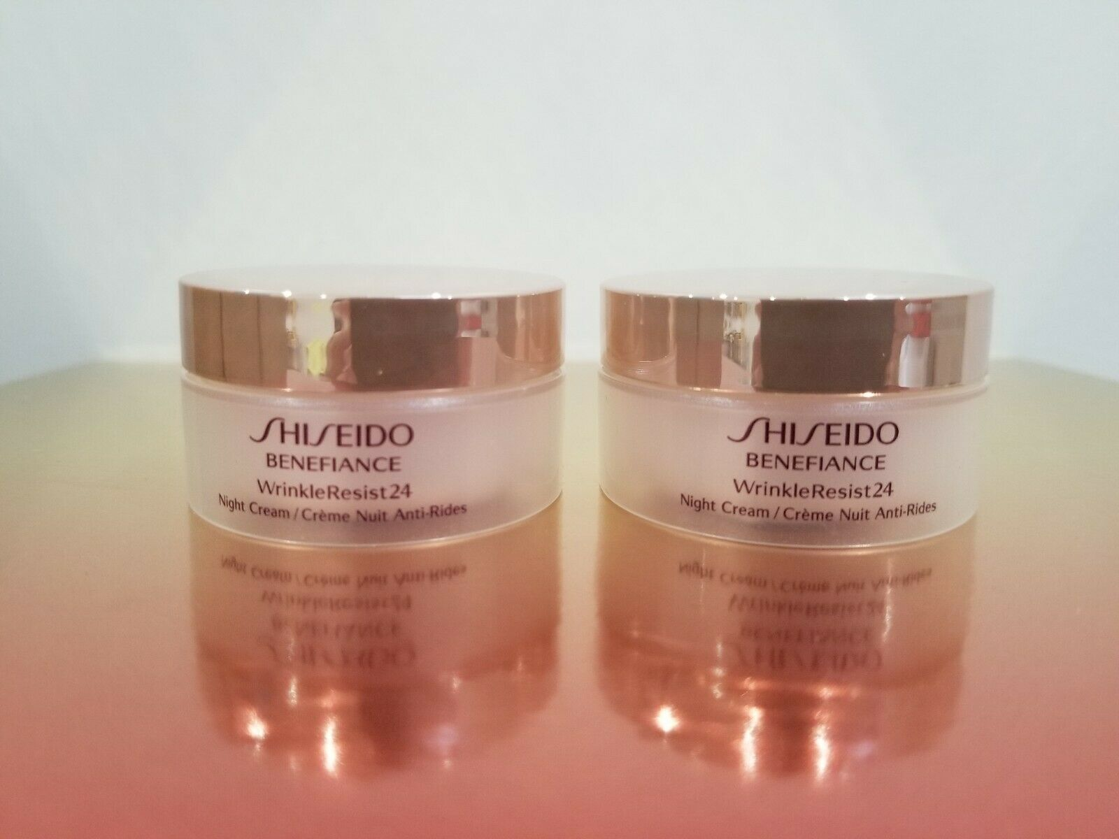 Primary image for 2 x Shiseido Benefiance Wrinkle Resist 24 Night Cream 18ml