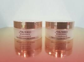 2 x Shiseido Benefiance Wrinkle Resist 24 Night Cream 18ml - $19.80