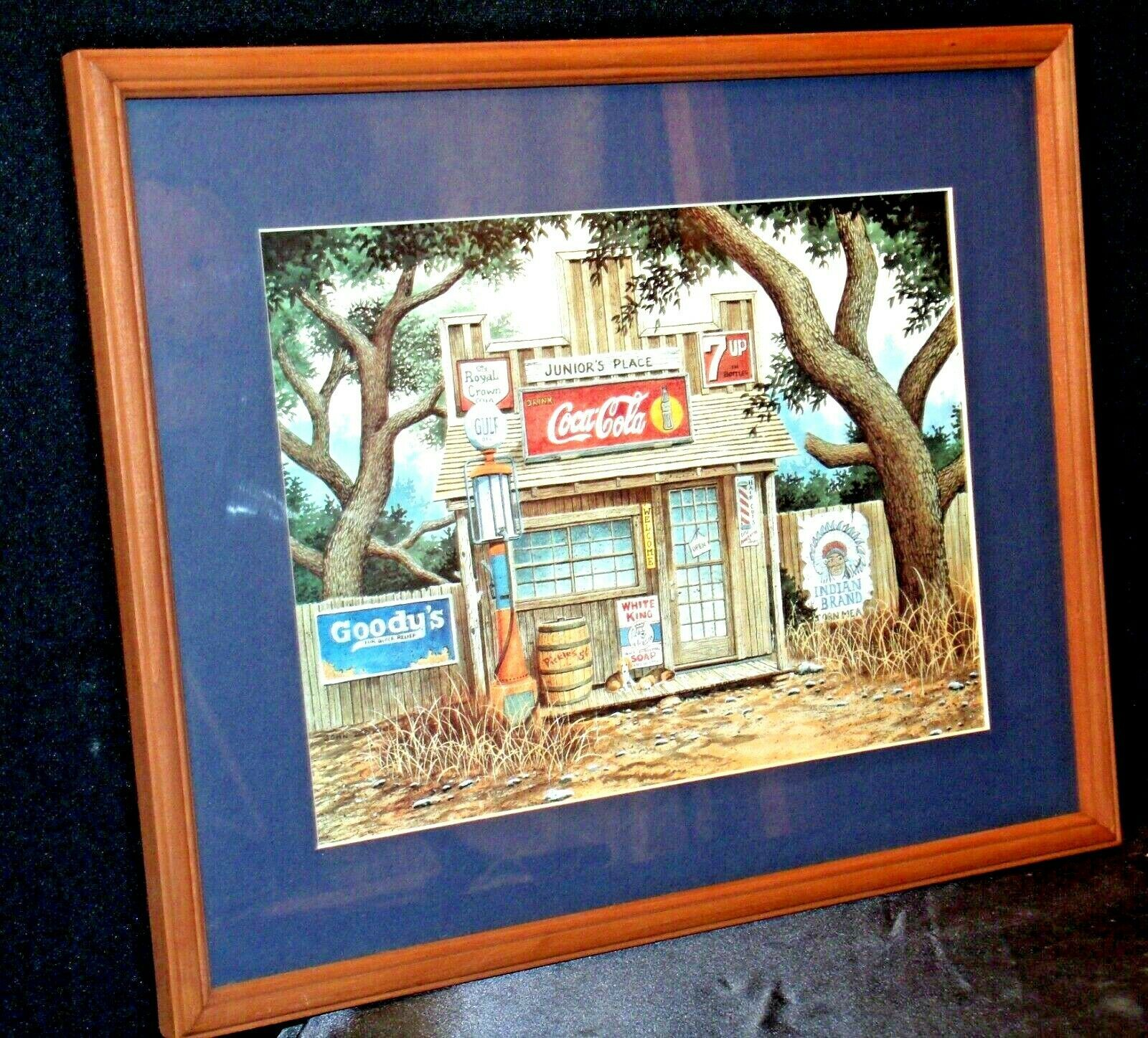 Coca-Cola Picture Junior's Place  AA-191915  Collectible Framed