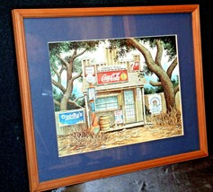 Coca-Cola Picture Junior's Place  AA-191915  Collectible Framed image 1