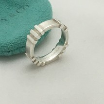 Tiffany & Co Sterling Silver Atlas Ring Size 4.5 - $99.00