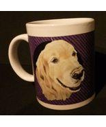 NEW Golden Retriever MUG, Ceramic Dog Coffee Cup, 10oz, Purple - $4.75