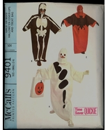 60s Size 2 4 Easy Halloween Costume Treat Bag McCalls 9401 Pattern Vinta... - $8.99