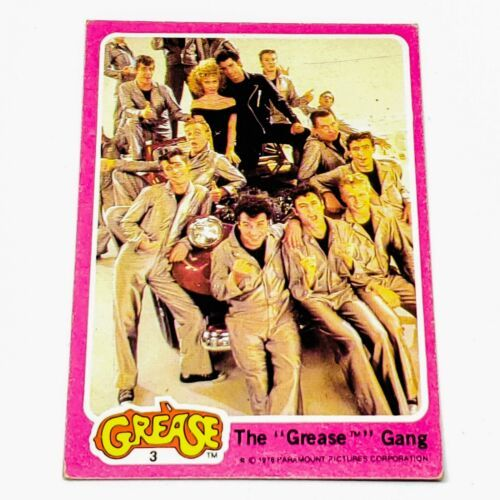 VINTAGE 1978 PARAMOUNT PICTURES GREASE COLLECTORS TRADING CARD #3 BLOWOUT PRICE - $1.07