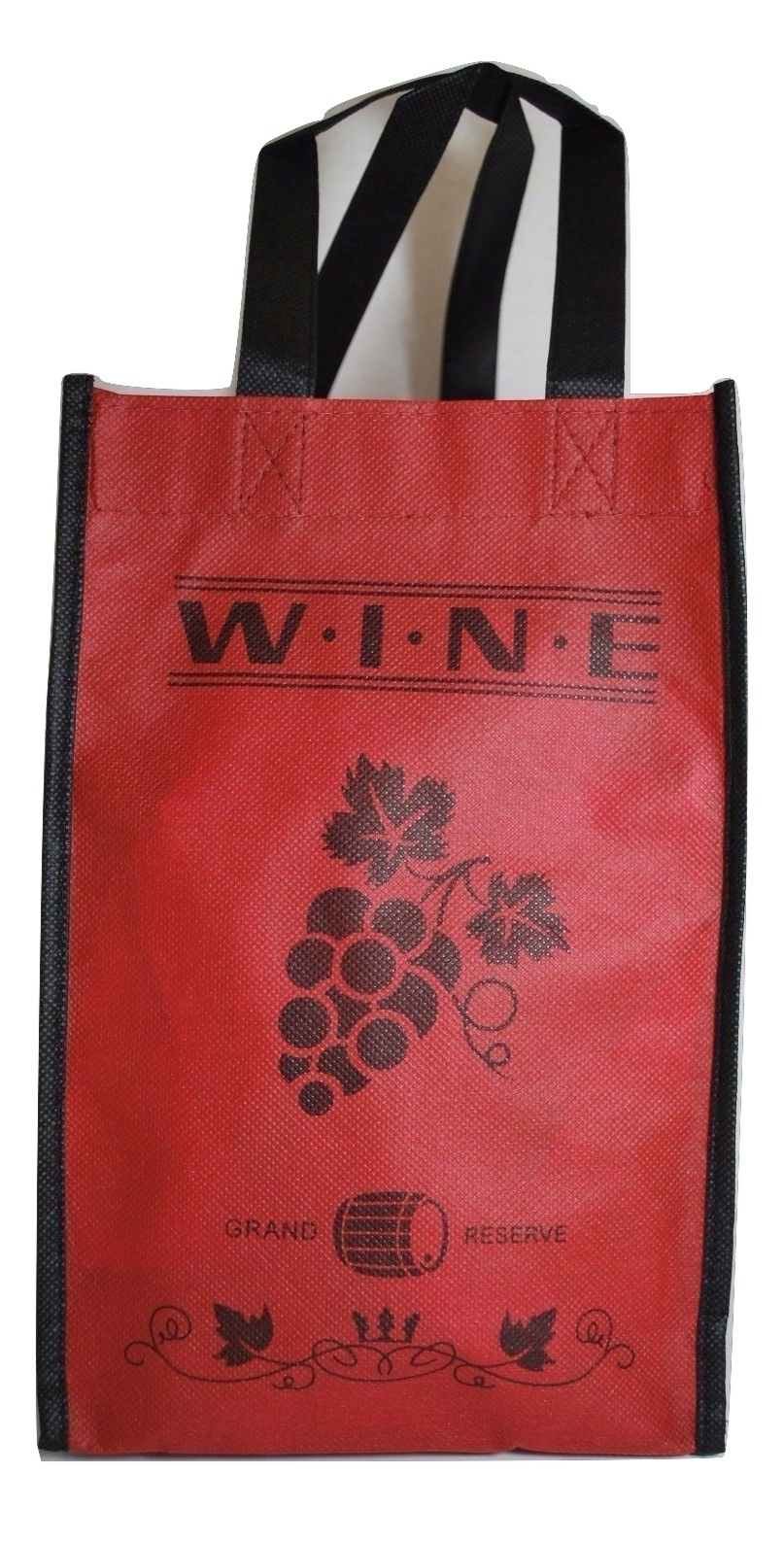 Set of 2 Red Wine Tote Bags Wine Bags by Pearlbedding (each holds 4 Bottles)