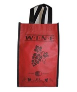 Set of 2 Red Wine Tote Bags Wine Bags by Pearlb... - $1.99