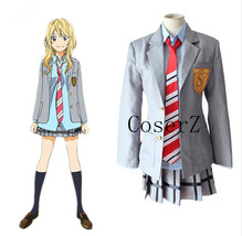 Your Lie in April Cosplay Costume Halloween Costume - $84.00