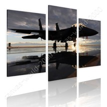 CANVAS (Rolled) F15 US Air Force Split 3 Panels 3 Panels Painting Wall D... - $39.15+