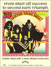 KISS Band Hotter Than Hell Album Sales Reproduction Promo Stand-Up Display - $16.99