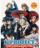 Anime DVD K Project Season 1+2 Vol.1-26 End + Movie + K Seven Stories Mo... - $31.99