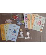 mary Engelbriet Vintage Paper Dolls part cut 2 dolls Josephine and Ann E... - $2.00