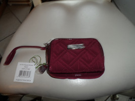 Vera Bradley On The Square Wristlet in Raisin NWT - $32.00