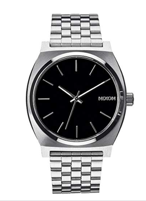 Primary image for Nixon Time Teller Watch Silver Band Black Face