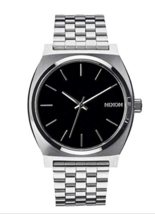 Nixon Time Teller Watch Silver Band Black Face    - $99.95