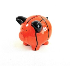 Russ Berrie Ceramic Piggy Bank – Sporty Basketball Piggy Bank - $11.30