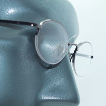 Petite Semi Frameless Bottomless Hint Of Tint Shiny Gray +1.00 Reading Glasses - $22.00