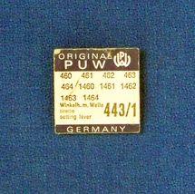 NOS  P U W  #443/1  Setting Lever, Detent Screw Wrist Watch Parts  - $7.99