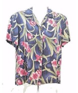 Caribbean Joe Women's Short Sleeve Tropical Button Up Blouse Size Small ... - $15.46