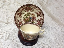 Vintage, Royal Staffordshire, England,Variant Gaudy Blue Willow Cup and ... - $28.45