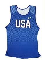 New Nike Team USA Digital Race Day Tight Tank Men's Large Blue 880462 $55 USATF - $79.19