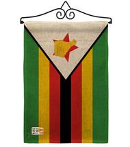 Zimbabwe Burlap - Impressions Decorative Metal Wall Hanger Garden Flag S... - $33.97