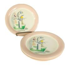 4 Homer Laughlin Eggshell Swing Bread & Butter Plate Swedish Modern Style VTG - $27.67