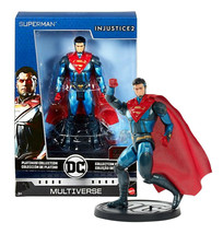 DC Multiverse Platinum Collection Superman Injustice 2 Metal with Stand MIB - $25.88