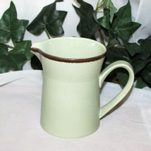 COLORADO MIKASA STONEKRAFT CREAMER STONEWARE BROWN BAND CREAM PITCHER MI... - $9.75