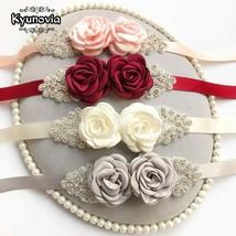 Kyunovia Pink White Flower Belts For Women Girl Flower Style Bridal Prom... - $12.43