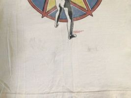 Off White/Beige RUSH T Shirt Men Starman Rock Concert image 3