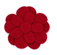 Set of 5 Special Magic Stick Hair Claw/Hair Clip/Hairpin, Red