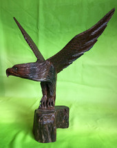 Large Antique German Black Forest wood carved Eagle mid century Bavaria ... - $390.00