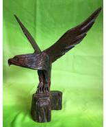 Large Antique German Black Forest wood carved Eagle mid century Bavaria ... - $390.00