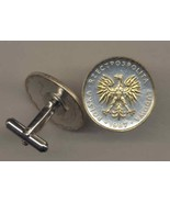 "Polish 5 zlotych ""Eagle"" 2-Toned Gold on Silver Coin Cufflinks - $92.00"