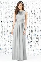 Dessy 8145.....Full length, Sleeveless, Satin Dress......Sterling......S... - $69.29
