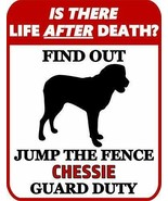 is There Death? Jump The Fence Chesapeake Bay Retriever Duty Dog Sign SP935 - $7.87