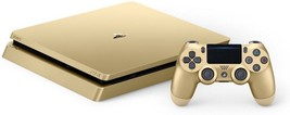 Sony PS4 Slim 1TB Gold Limited Colectors Edition Dualshock 4 Wireless Co... - $603.40