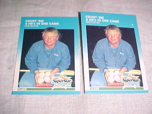 Primary image for 2 - 1987 FLEER 4 HOMERUN GAMEHARD TO FIND CARDS BOB HORNER