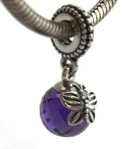 Authentic Pandora Morning Butterfly Dangle Purple Bead Charm 791258ACZ New - $48.44