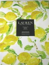 """Ralph Lauren Lemons Yellow/Green/Whie Cotton Tablecloth 84"""" Oblong - $47.00"""