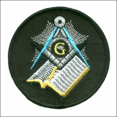 Embroidered Patch Masonic  G Patch
