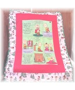 Peanuts And Lucy Christmas Fabric Panel Baby Quilt - $45.00