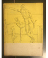 "VINTAGE BALLET THEATRE 1947-1948 program Paul Cadmus ""Arabesque"" cover art - $49.50"