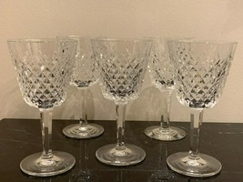 "Waterford Crystal Alana Set of 5 Claret Wine Glasses 5 7/8"" - $79.00"