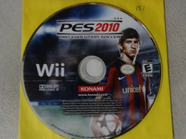 PES 2010 Pro Evolution Soccer - Nintendo Wii Video Game Disc Only Free Ship - $8.90