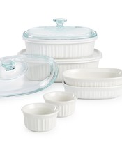 Corningware French White 10 Piece Bakeware Set - $71.75