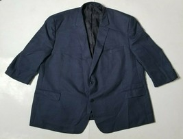 Michael Kors Mens 60R 2 Button Blazer Suit Jacket Sport Coat Blue & Gray... - $64.99