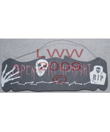 Open at Midnight Skull bones Halloween Wood sign - $3.99